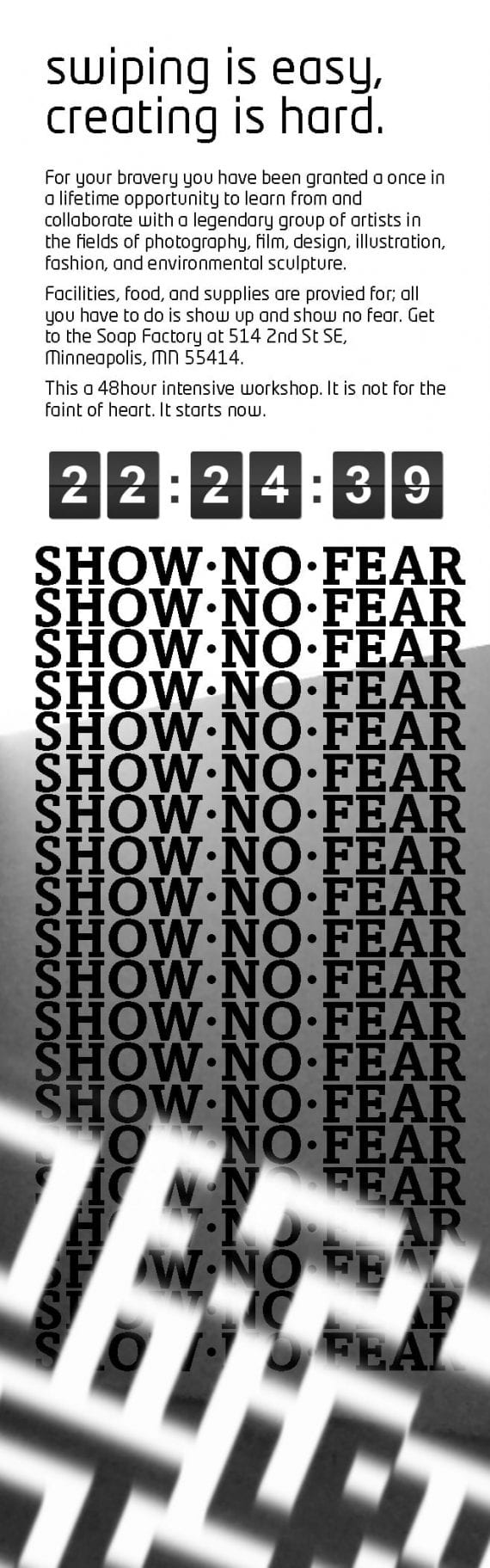 ShowNoFearShow Website Mockup