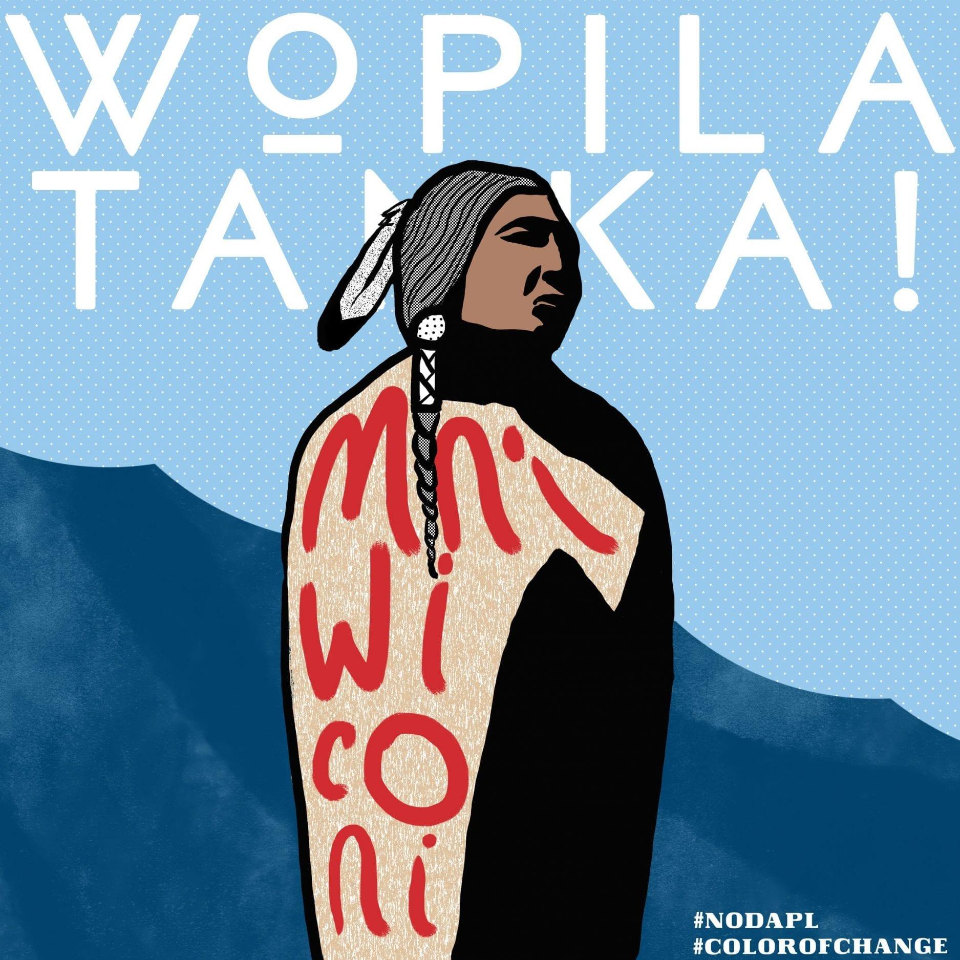 Wopila Tanka NoDAPL Graphic