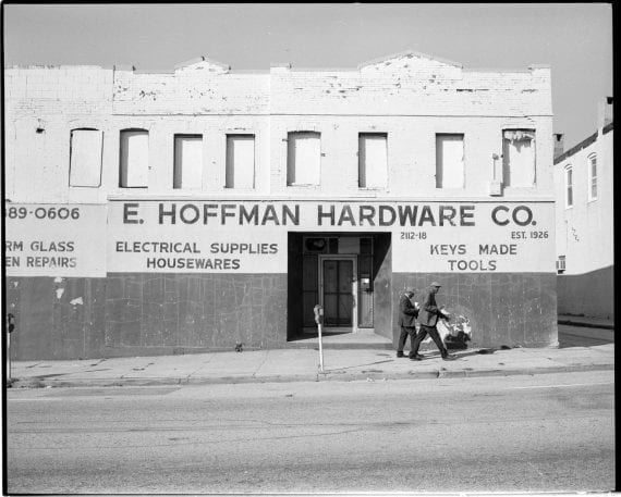 Photo of men walking outside of Hoffman Hardware
