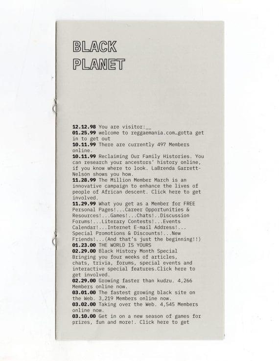 Black Planet Publication Cover