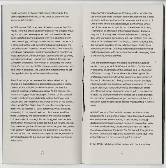 Book Structures / Artist Books Spread