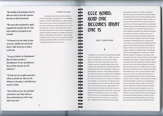 Ecce Homo Publication Spread