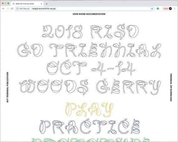 2018 RISD GD Triennial Website
