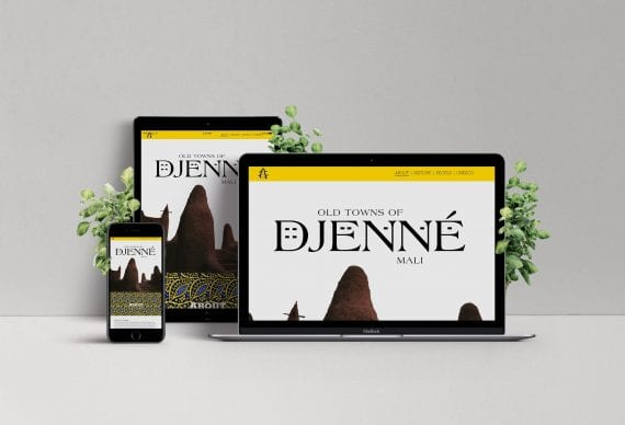 Old Towns of Djenné Website Mockup