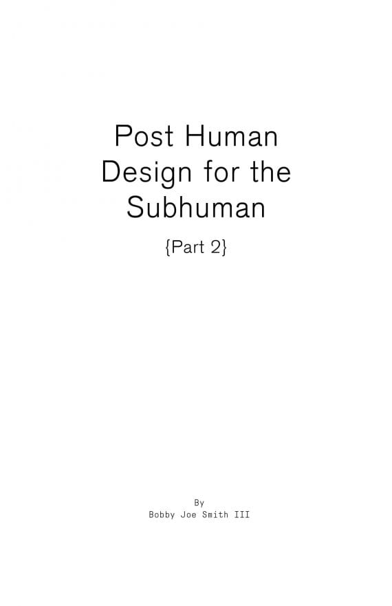 Post Human Design for the Subhuman Publication Cover