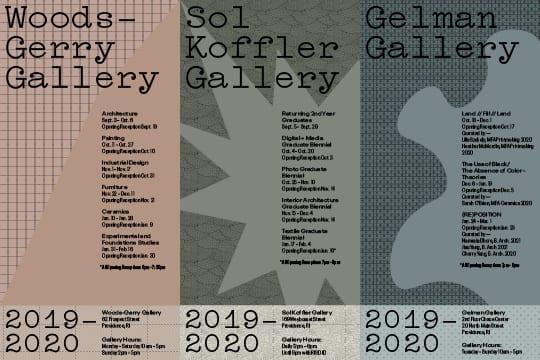 RISD 2019-2020 Exhibitions Brochure