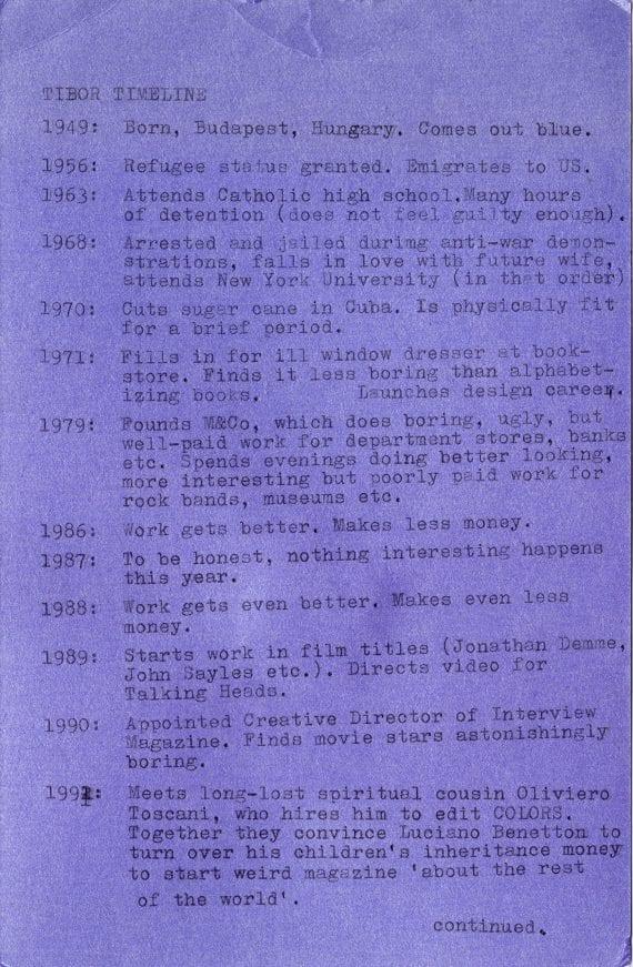 Tibor Timeline