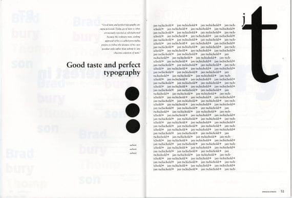 Type Duel Publication Spread