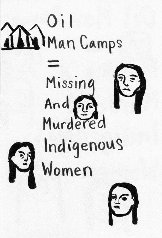 Water Protector Sign - Missing and Murdered Indigenous Women