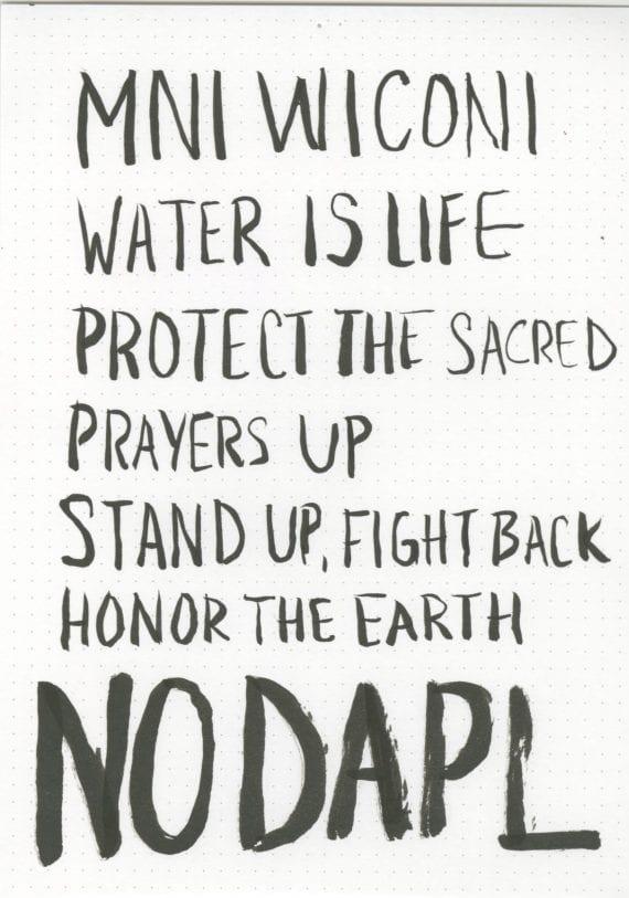 Water Protector Sign - Mni Wiconi