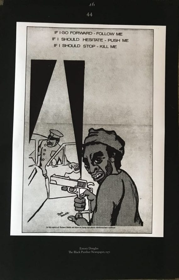 Poster from Emory Douglas in the As, Not For exhibition