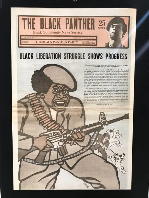 Poster from The Black Panther Newspaper