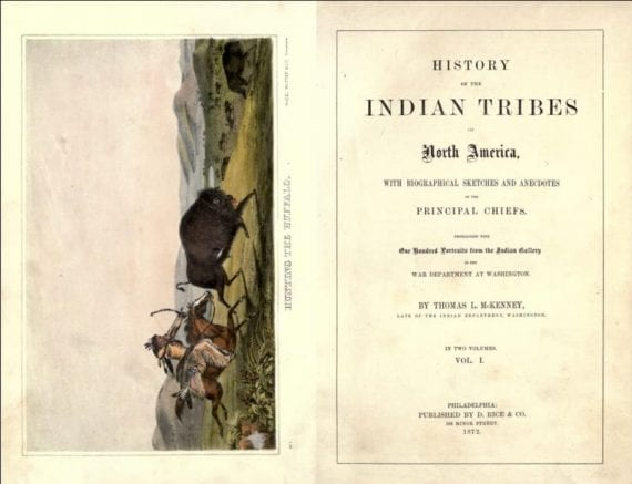 History of Indian Tribes Book Spread